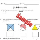 Fraction Quiz and Answer Key