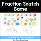 Fraction Snatch Partner Game
