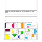 Fraction Sort Cut-N-Paste {Halves, Fourths, Unequally Part