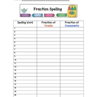 Fraction Spelling: Any Word List