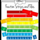 Fraction Strips and Tiles Clip Art