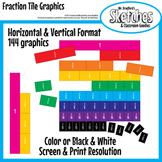 Fraction Tiles Graphics and Clipart for Interactive Boards