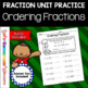 Fraction Unit - Ordering Fractions