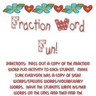 Fraction Word Fun