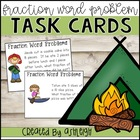 Fraction Word Problem Task Cards