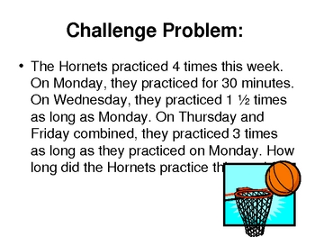 Fraction Word Problems Multistep PowerPoint