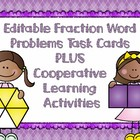 Fraction Word Problems Task Cards & Scoot Game