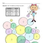 Fraction Words Bubbles Coloring Page