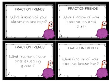 Fraction Work Station Activities