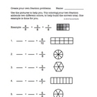 Fraction addition practice worksheet - Adding and coloring