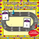 Fraction and Decimal Number Line Long Jump Game