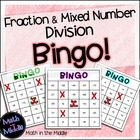 Fraction and Mixed Number Division Bingo