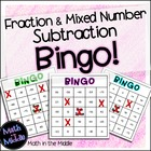Fraction and Mixed Number Subtraction Bingo