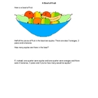 Fractions - A Bowl of Fruit Worksheet