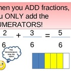 Fractions: Adding fractions with Common Denominators