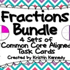 Fractions Bundle: 4 Sets of Common Core Aligned Task Cards