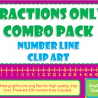 {Fractions} COMBO Number Line Clip Art Common Core Math Wo