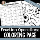 Fractions Coloring Worksheet