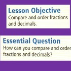 Fractions: Compare and Order Fractions and Decimals for Vi