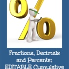 Fractions, Decimals & Percents: An Introductory Chapter Math Test