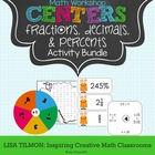 Fractions, Decimals, and Percents Activity Bundle