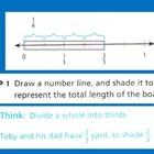 Fractions: Divide Fractions Using a Number Line for Visual
