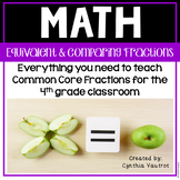 Fractions: Equivalent & Comparing in 4th Grade for the Com