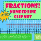 Fractions *FIFTHS* Number Line Clip Art Common Core Math W
