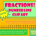Fractions *FOURTHS* Number Line Clip Art Common Core Math 