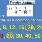 Fractions: Finding Common Denominators for Adding and Subt