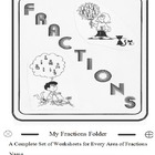 Fractions Folder 55 Worksheets w ICAN Checklist