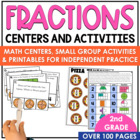 Fractions Fun Centers Pack