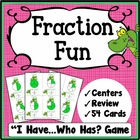 Fractions I Have, Who Has Game