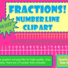 Fractions *Halves* Number Line Clip Art Common Core Math W
