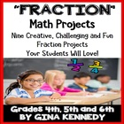Fractions Math Differentiated Project Menu FUN, CREATIVE w