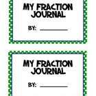 Fractions Math Journal - 3rd/4th Grade. Compare, Order & I