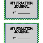 Fractions Math Journal MEGA pack -compare, identify, +, -,
