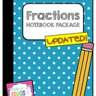 Fractions Math Notebook/Math Journal Pack