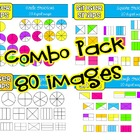Fractions Mega Clip Art Set