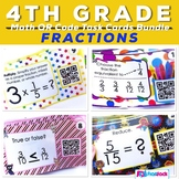 Fractions QR Code Fun Bundle - 4th Grade CCSS Alignment
