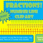 Fractions *THIRDS* Number Line Clip Art Common Core Math W