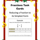 Fractions Task Cards | Reducing or Simplifying Fractions