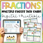Fractions Task Cards for Differentiated Instruction