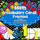 Fractions Vocabulary Cards