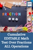 Fractions (all operations): A Cumulative Math Test