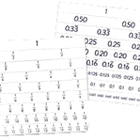 Fractions and Decimals Flexitable - Package of 10