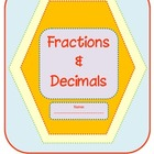 Fractions and Decimals Review {tenths and hundredths}