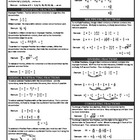 "Fractions ""notes sheet"""