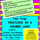 Fractions on a Number Line: 4in1 Bundled Set: Tests and Wo