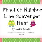 Fractions on a Number Line Scavenger Hunt